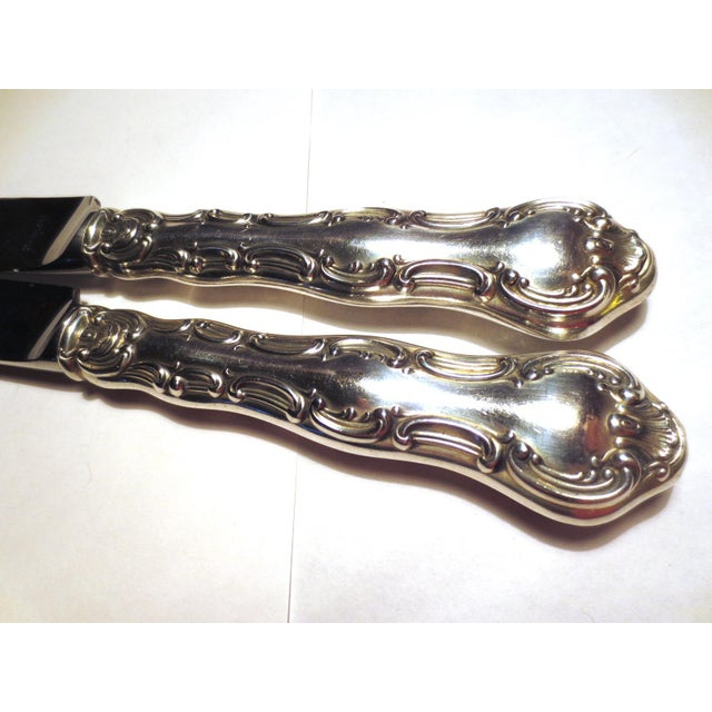 Silver Strasbourg Gorham Sterling Silver New French Hollow Knives - a Pair For Sale - Image 8 of 10