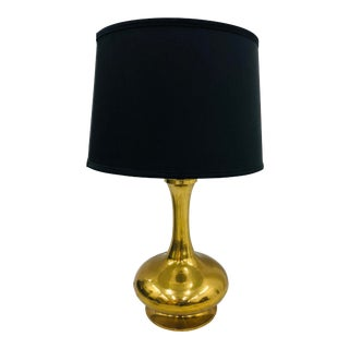 Vintage Mid Modern Brass Table Lamp For Sale