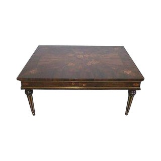 Custom French Regency Rosewood Inlaid Cocktail Table For Sale