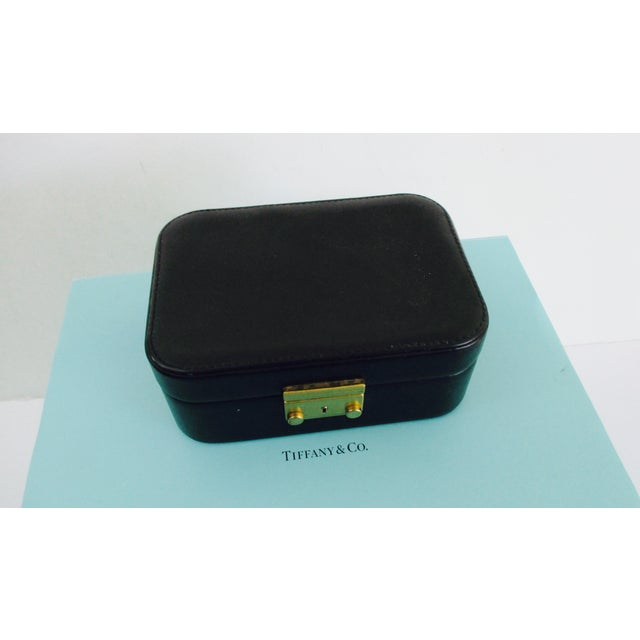 4cf1bc769 Italian Tiffany & Co. Black Leather Jewelry Box Case For Sale - Image 3 of