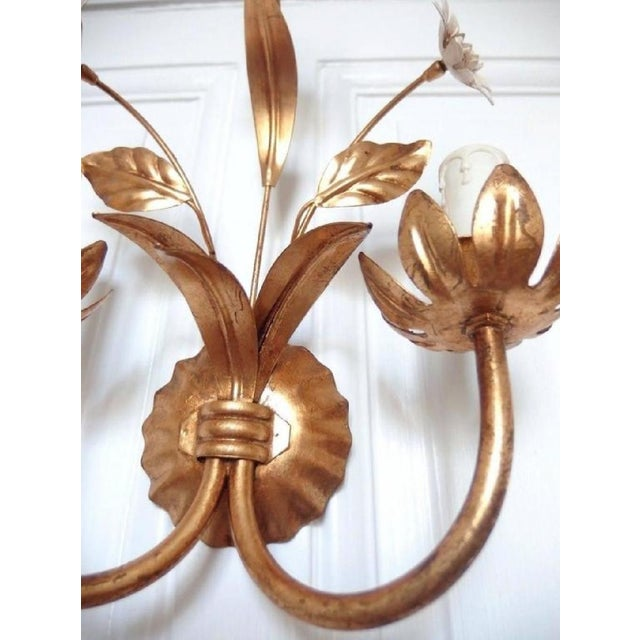 Mid-Century Modern French Flowers Wall Lamp, 1950s For Sale - Image 3 of 6
