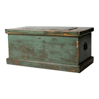Antique Carpenters Trunk For Sale
