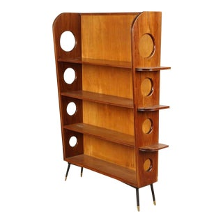 1950s Porthole Design Bookcase For Sale