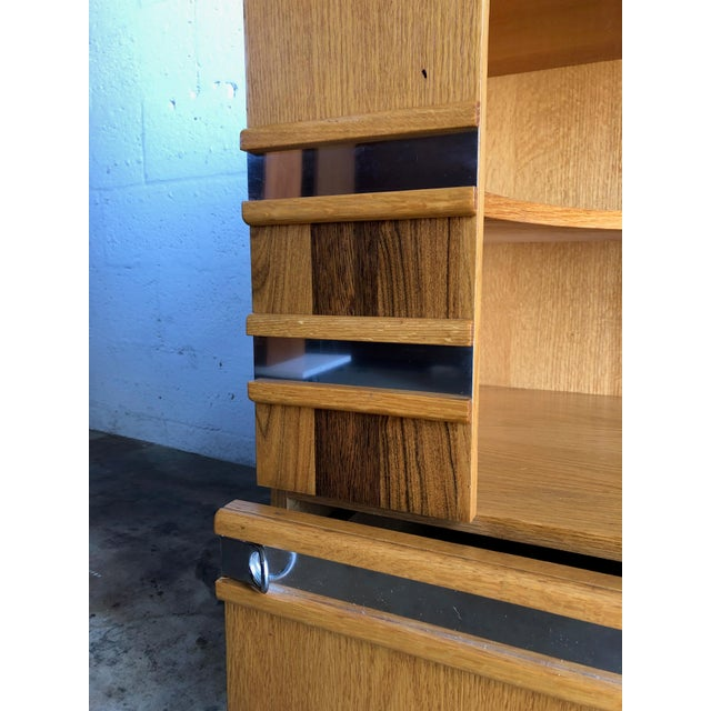 A Pair of Vintage Mid Century Modern Early 80's Nightstands For Sale In Miami - Image 6 of 12
