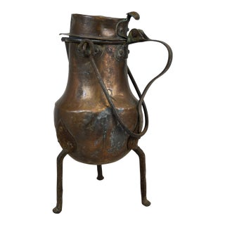 Antique French Copper Coffee Kettle For Sale