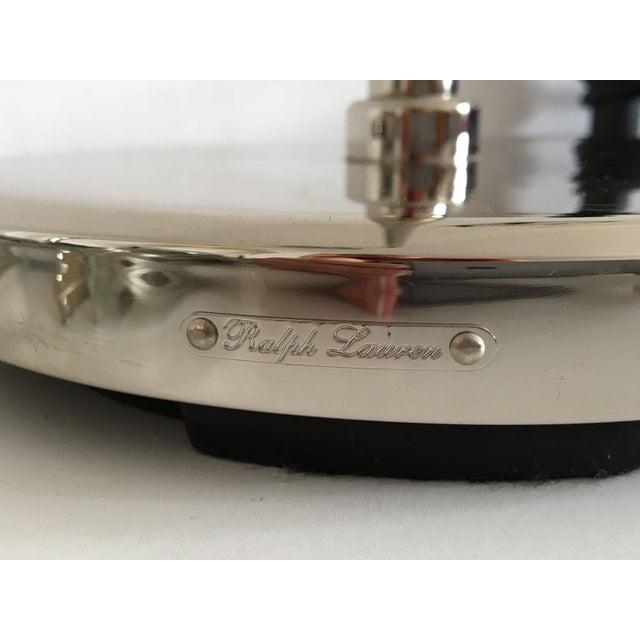 Ralph Lauren Polished Nickel Floor Lamps - A Pair - Image 6 of 10
