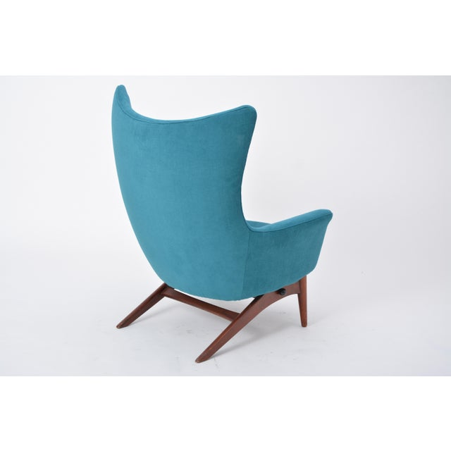 Reupholstered Model 207 Reclining Lounge Chair Designed by h.w. Klein For Sale - Image 11 of 12