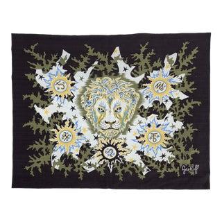 Elie GreKoff Signed Cotton Textile Art Tapestry For Sale