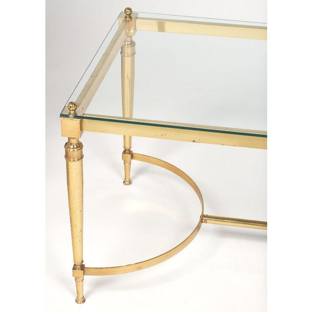 Mid-Century Vintage Brass Coffee Table For Sale - Image 4 of 10