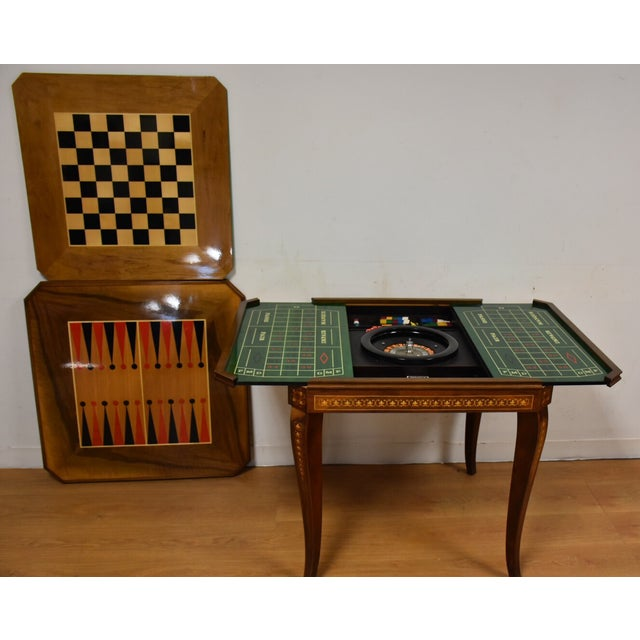Italian Game Table Set For Sale - Image 7 of 11