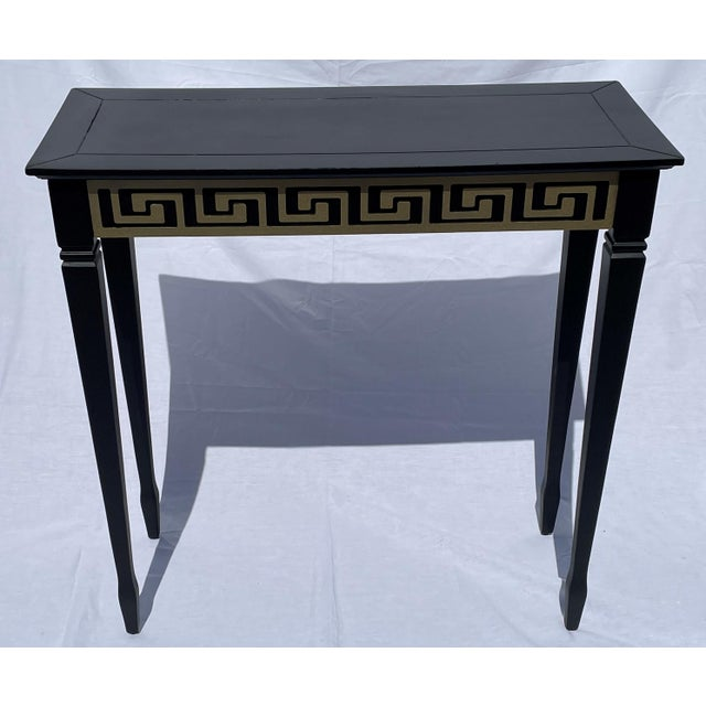 Vintage Black and Gold Narrow Side Table For Sale - Image 12 of 12