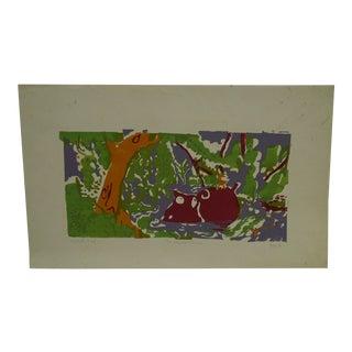 "1970 Troy ""Hippopotamus"" Print For Sale"