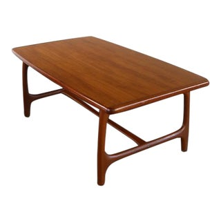 Swedish Mid Century Modern Teak Coffee Table by Alberts of Tibro, Sweden For Sale