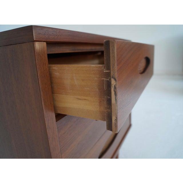 McCoy Furniture Mid-Century 3-Drawer Walnut Nightstand - Image 10 of 10