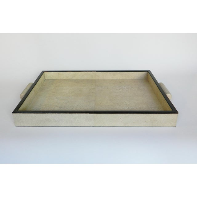 Natural Shagreen Rectangular Tray For Sale - Image 4 of 5