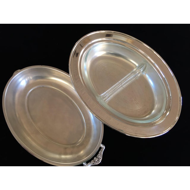 Vintage Silver Plated Divided Serving Dish - 3 Pieces - Image 5 of 5