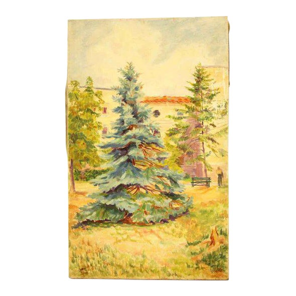 Cheerful Fir Tree Painting For Sale