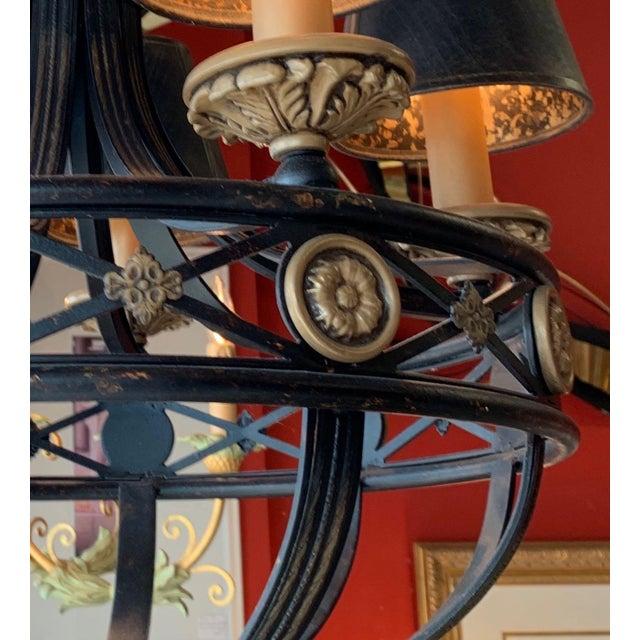 Fine Art Lighting Chandelier Bronze & Gold 5 Lights For Sale - Image 9 of 13