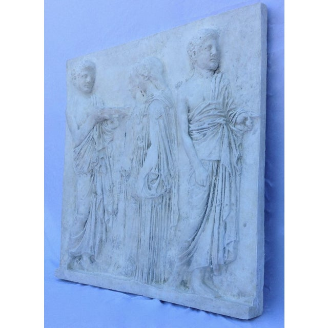 Vintage Hollywood Regency Greco-Roman Sculptural Wall Art - Image 4 of 11