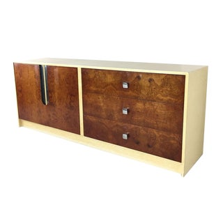 MId Century Burl Wood & Lacquer Credenza