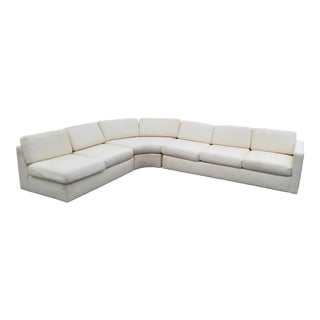 Authentic Milo Baughtman for Thayer Coggin Three Pieces Sectional Sofa . For Sale