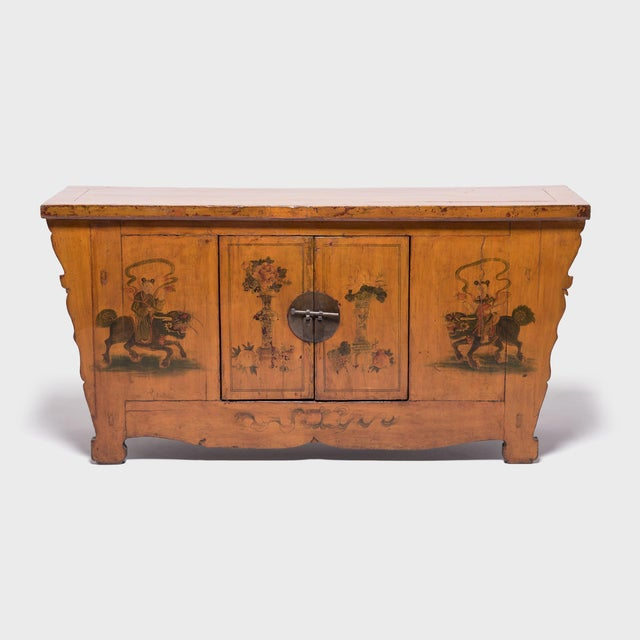 Qilin Painted Coffer For Sale - Image 10 of 10