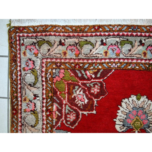 1940s Handmade Vintage Turkish Oushak Runner - 3′7″ × 11′1″ For Sale - Image 5 of 10