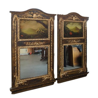 Monumental Neoclassical Inspired Peter Edlund Oil Painting Wall Mirrors - A Pair Preview