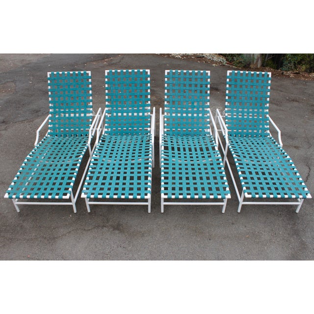 Mid-Century Tropitone 'Cantina' Reclining Patio Lounges - Set of 4 - Image 9 of 11
