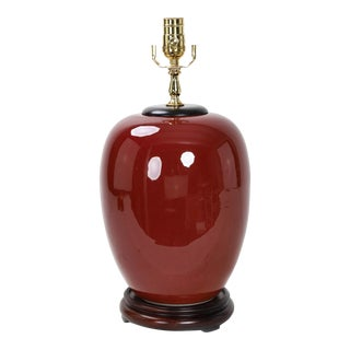 20th Century Chinese Style Red Oxblood Glaze Lamp For Sale