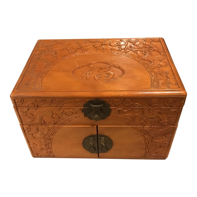 Vintage Asian Chinoiserie Jewelry Box - Image 1 of 11