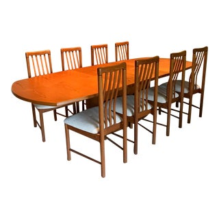 Teak Skovby Dining Table and Benny Linden Chairs, Denmark. Vintage, Early 1980s For Sale
