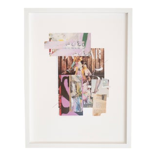 """""""Nymphea"""" Contemporary Mixed-Media Collage by Emily Hoerdemann, Framed For Sale"""