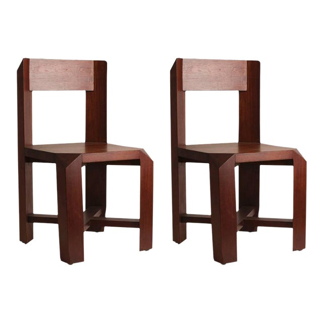 Pair of Chairs Attributed to the French Architect Dominique Zimbacca - Image 1 of 4