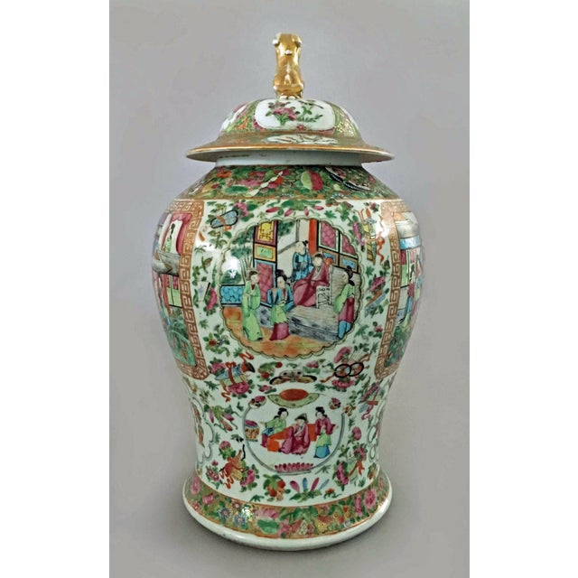 Antique Chinese Large Famille Rose Vase with Lid | Chairish