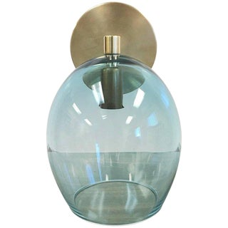 Murano Glass and Brass Sconce For Sale