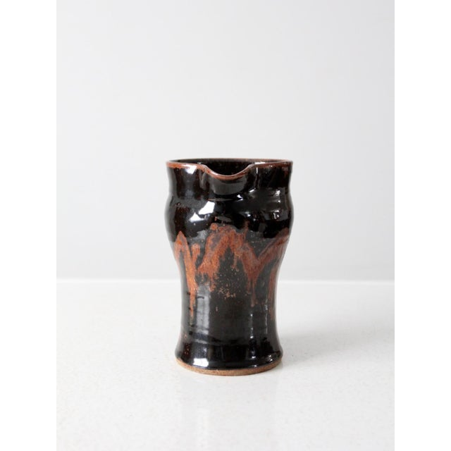 Contemporary Late 20th Century Vintage Studio Pottery Pitcher For Sale - Image 3 of 10