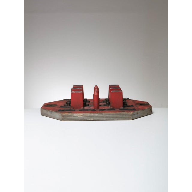 Marvelous wood foundry mold. Small scale architectural attitude piece also available in different landscapes.