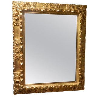 19th Century 24k Gold Leaf French Mirror For Sale
