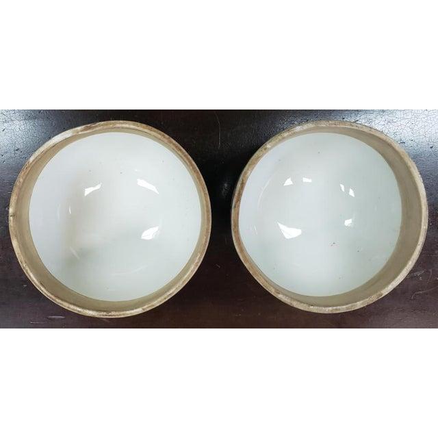 Ceramic C. 1880 Chinese Famille Verte Porcelain Enameled Floral/Dragon Motif Ginger Jars - a Pair For Sale - Image 7 of 9