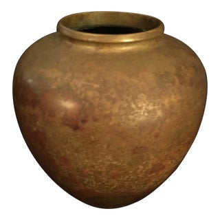 Late 19th Century Antique Japanese Bronze Vase For Sale