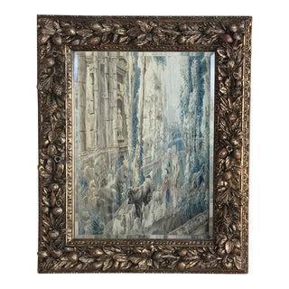 19th Century Italian Della Robia Giltwood Mirror For Sale