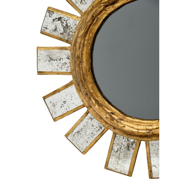 French Sunburst Mirror For Sale In Austin - Image 6 of 11