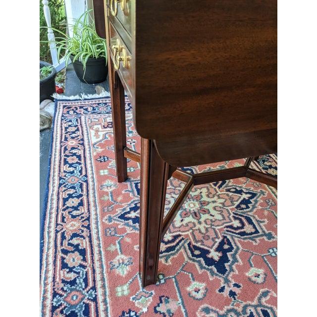 Vintage Henkel-Harris Drop Leaf Mahogany Side Table For Sale - Image 9 of 12