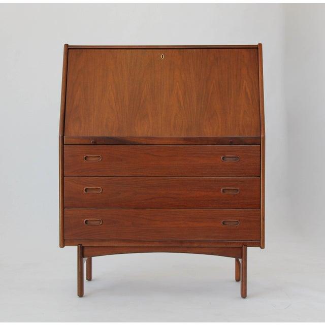 Mid Century Modern Danish Secretary Desk Or Cabinet By Hnj Møbler For
