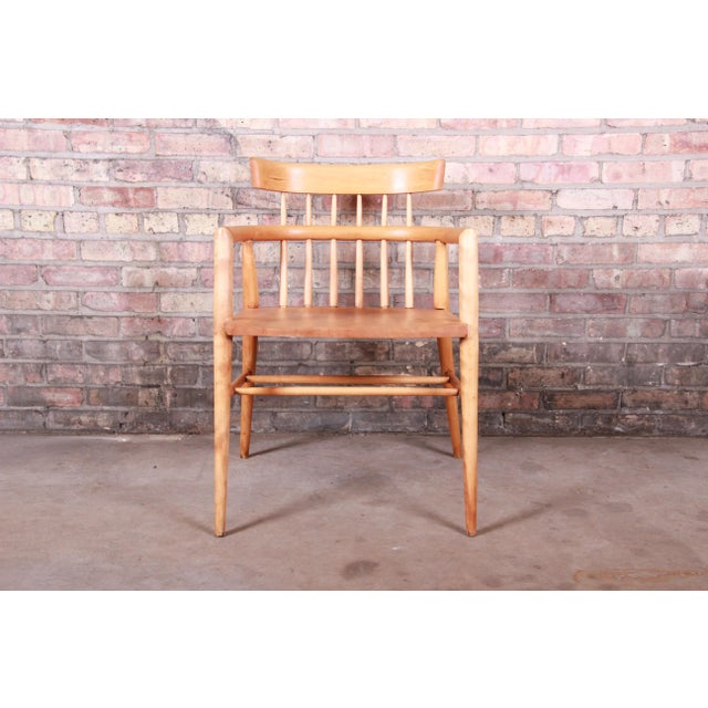 Paul McCobb Planner Group Solid Maple Spindle Back Armchairs - a Pair For Sale - Image 9 of 13