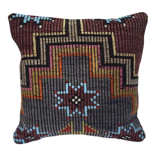 Southwestern Woven Kilim Pillow For Sale