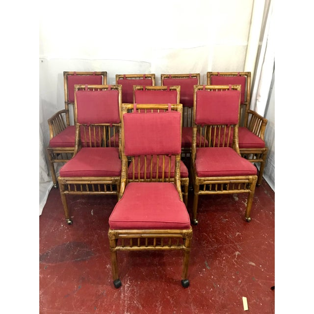 Bamboo Dining Chairs Set of 8 For Sale - Image 13 of 13