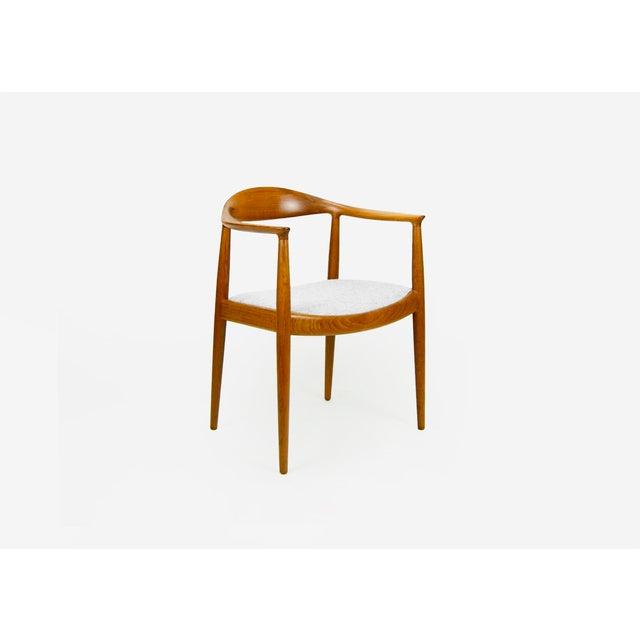 Hans Wegner for Johannes Hansen Teak Round Arm Chair For Sale - Image 13 of 13
