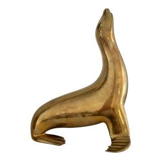 Large Vintage Sarreid Ltd. Brass Seal For Sale